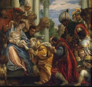 Adoration of the Magi by Veronese, Public Domain, http://www.wikiart.org/en/search/veronese%20annunciation/1#supersized-search-232877