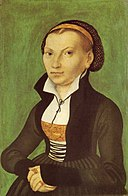 Katharina von Bora, by Lucas Cranach the Elder [Public domain], via Wikimedia